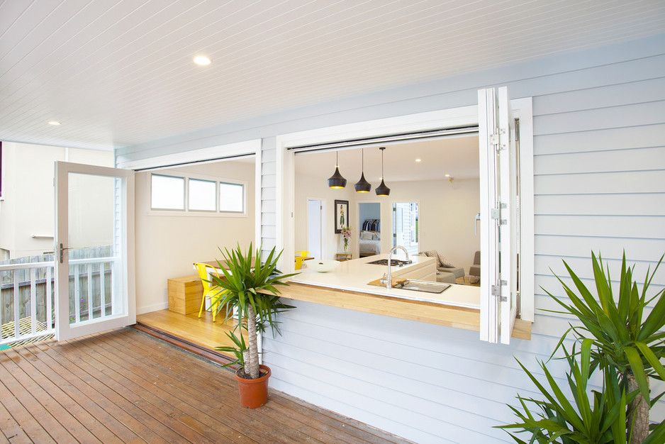 Kitchen servery to Outside Deck - Avalon Northern Beaches - Style ...