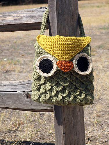 Woodland Owl Bag pattern by Laura Bozeman | Eule, Häkeltasche und ...