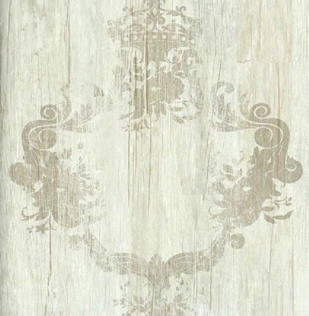 Vlies Tapete 46521 Antik Holz Ornament Beige Braun Royal Wood Design  Elements