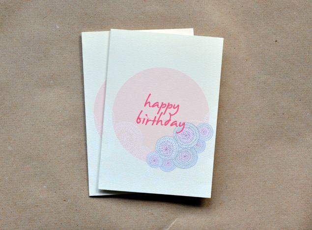 Printable Birthday Stationery Paper ~ Free printable birthday card flower ball printables pinterest