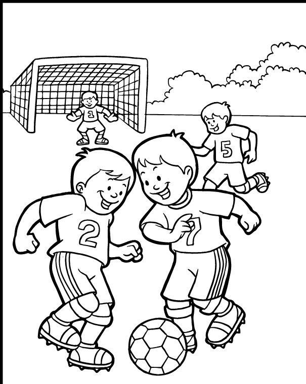 Small Children Played Ball Together Coloring Page Nino Jugando