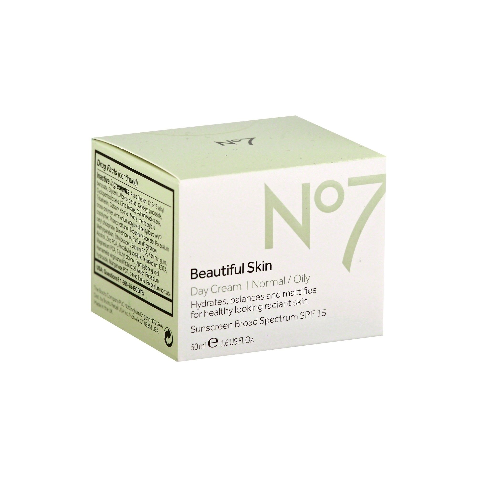 No7 Beautiful Skin Day Cream Normal/Oily Spf 15 - 1 6oz   Products
