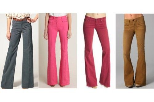 Colored Flare Jeans