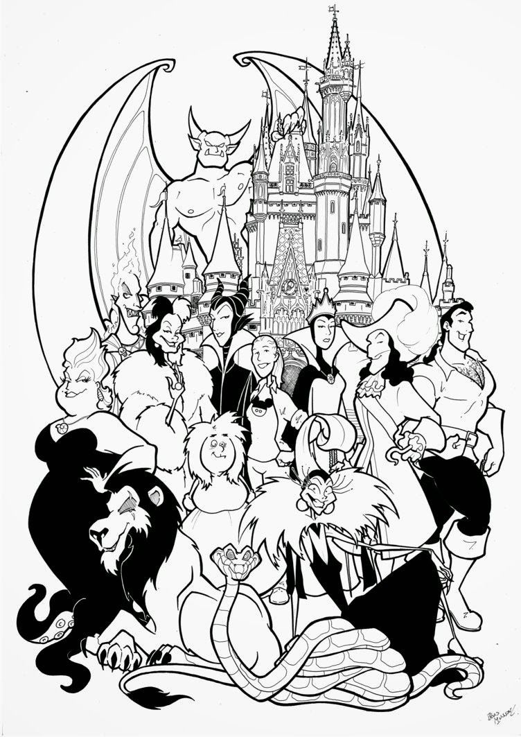 disney villains coloring pages Disney Villains Coloring Pages   Coloring Labs | printables  disney villains coloring pages