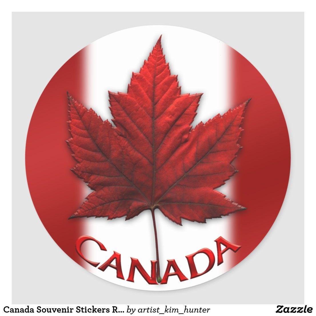 Canada Souvenir Stickers Red Maple Leaf Stickers Zazzle Com In 2020 Maple Leaf Tattoos Canada Flag Canadian Artists