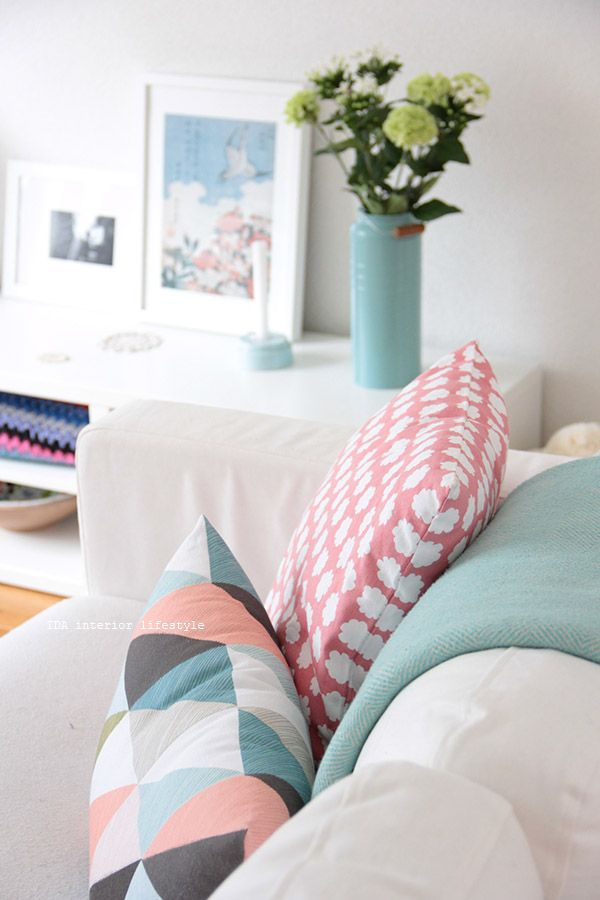 Patterns And Pastels Are Like Peas In A Pod Dress Up Your Couches This Spring With Patterned Pastel Throw Pillows For An Instantly Brighter Look