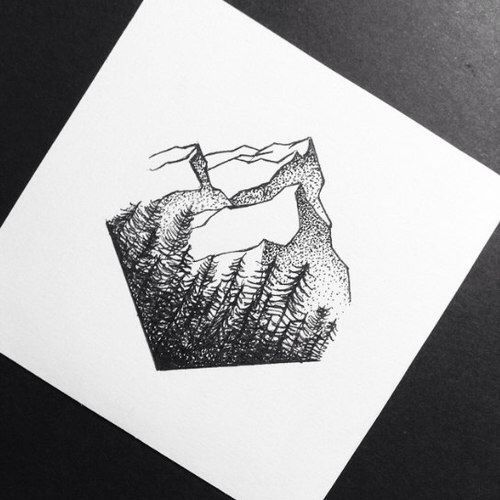 Photo of Mountain sketch/drawing