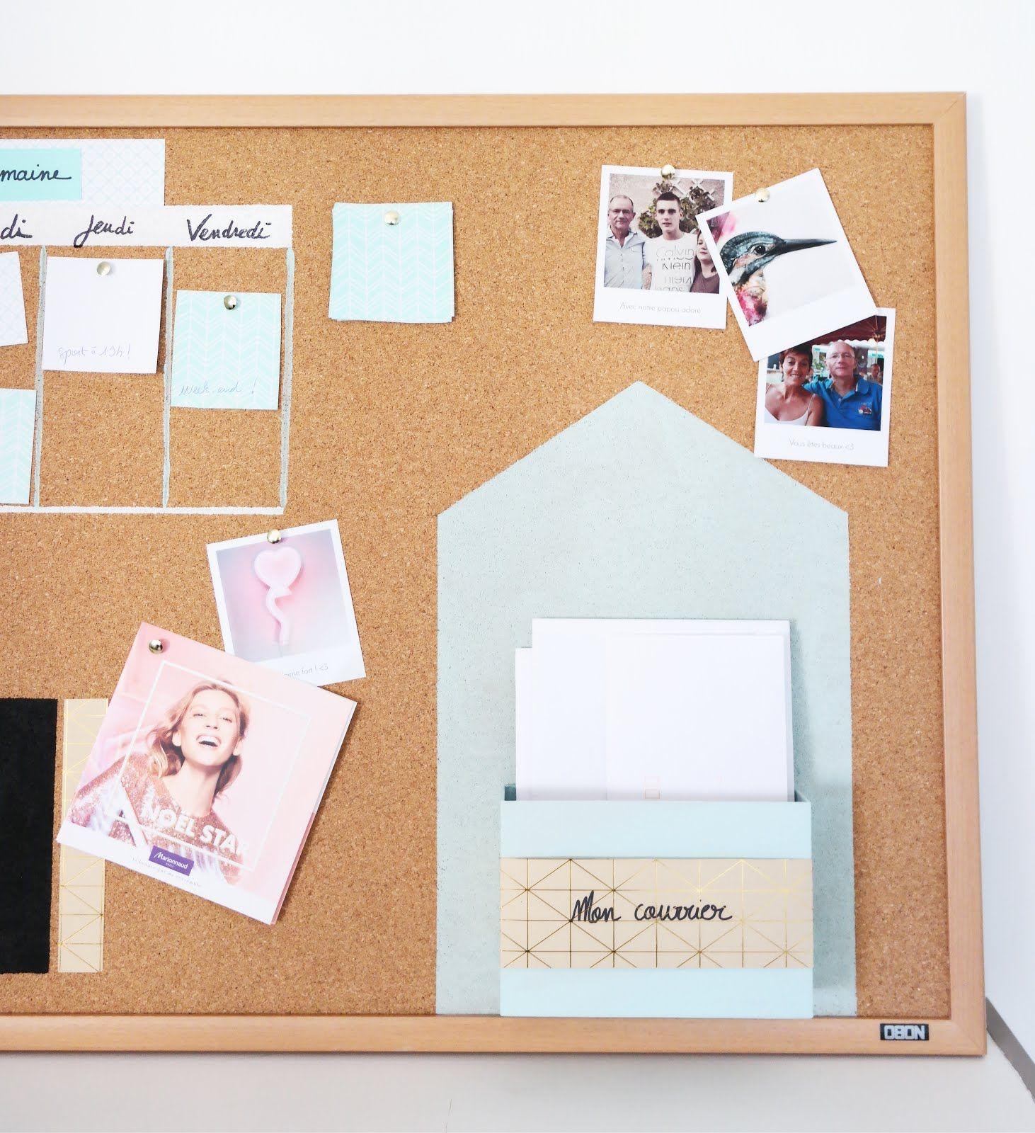 tableau liege organisation bureau diy home inspiration diy room decor diy et organisation. Black Bedroom Furniture Sets. Home Design Ideas