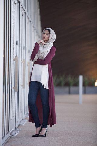 Maxi Cardigan - Burgundy | Hijab Styles | Pinterest | Maxi ...