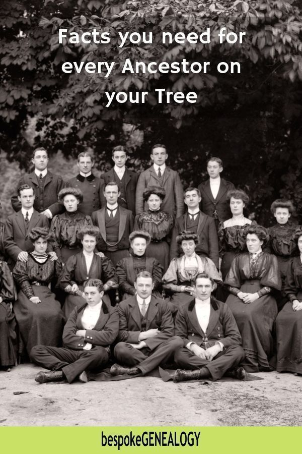 Family Tree Facts you need for every Ancestor #ancestors