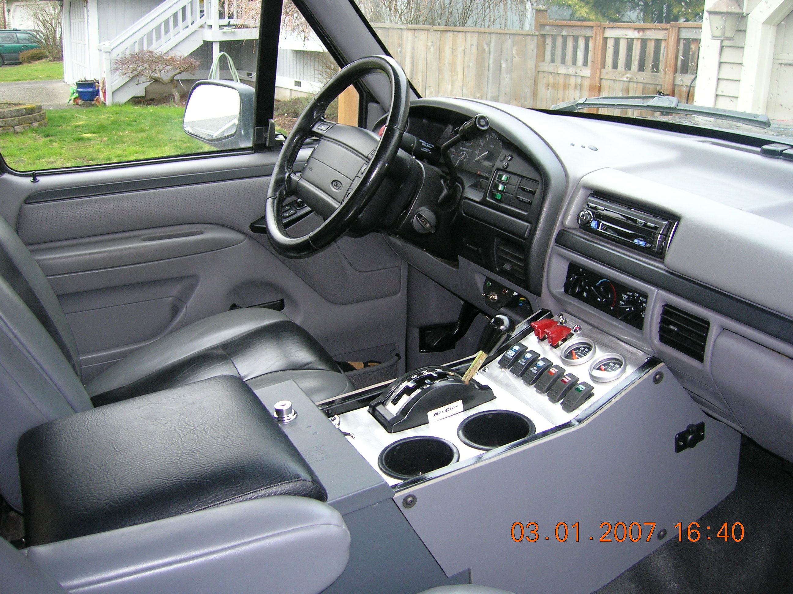 Center Console With Winters Shifter I Would Like It To Go Up On The Dash More Ford Bronco Ford Trucks Ford Suv
