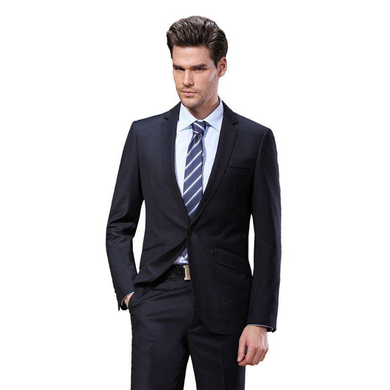 2016 Western style Black Color Men Business Suits Brand Boss Suit ...
