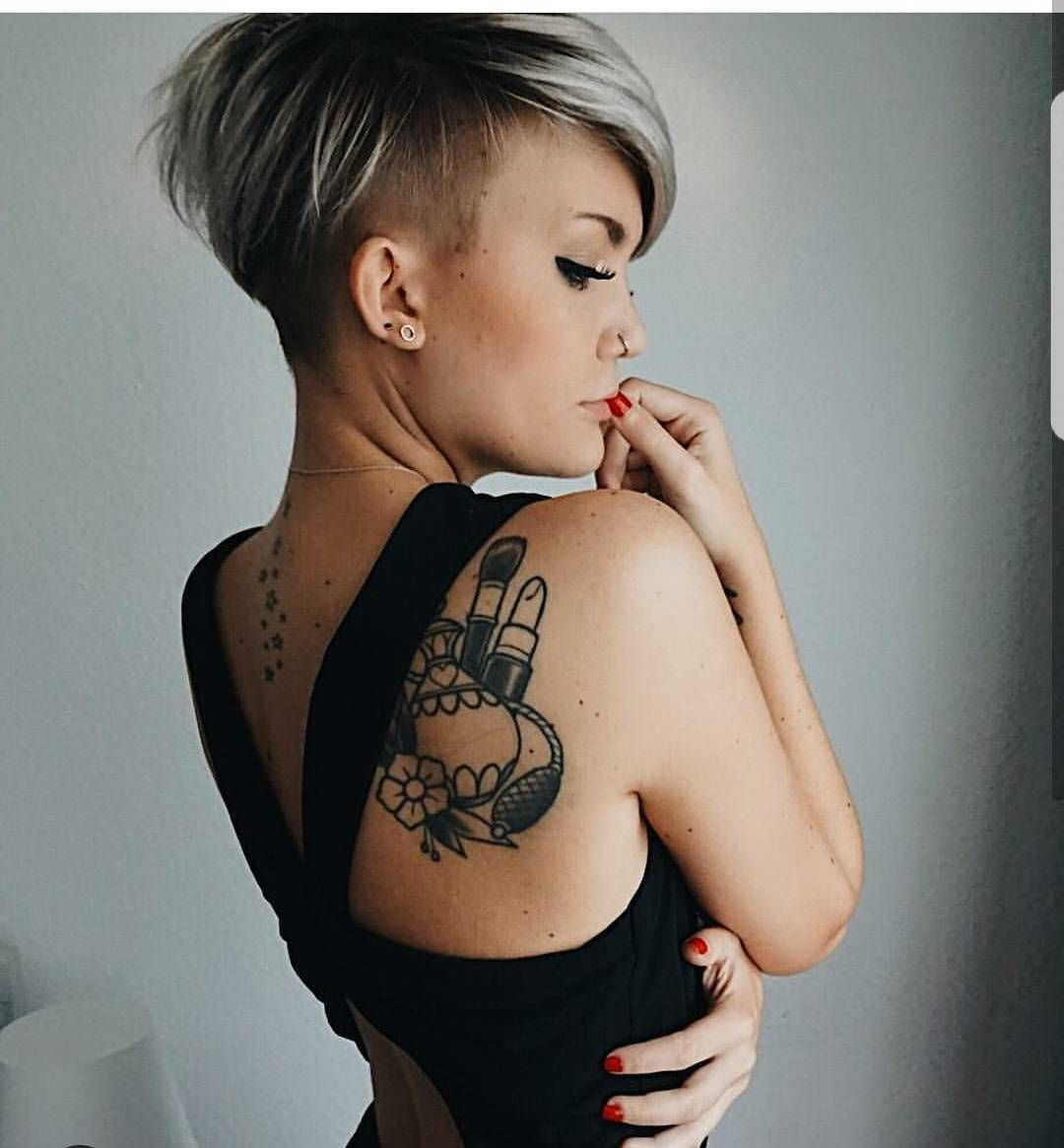 One side hairstyle boy round face  likes  comments  pixiecut shorthair blogger
