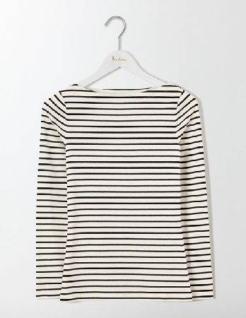 4a46a32176dde3 Boden Essential Boatneck Ivory/Black Women Boden, #Made from jersey ...