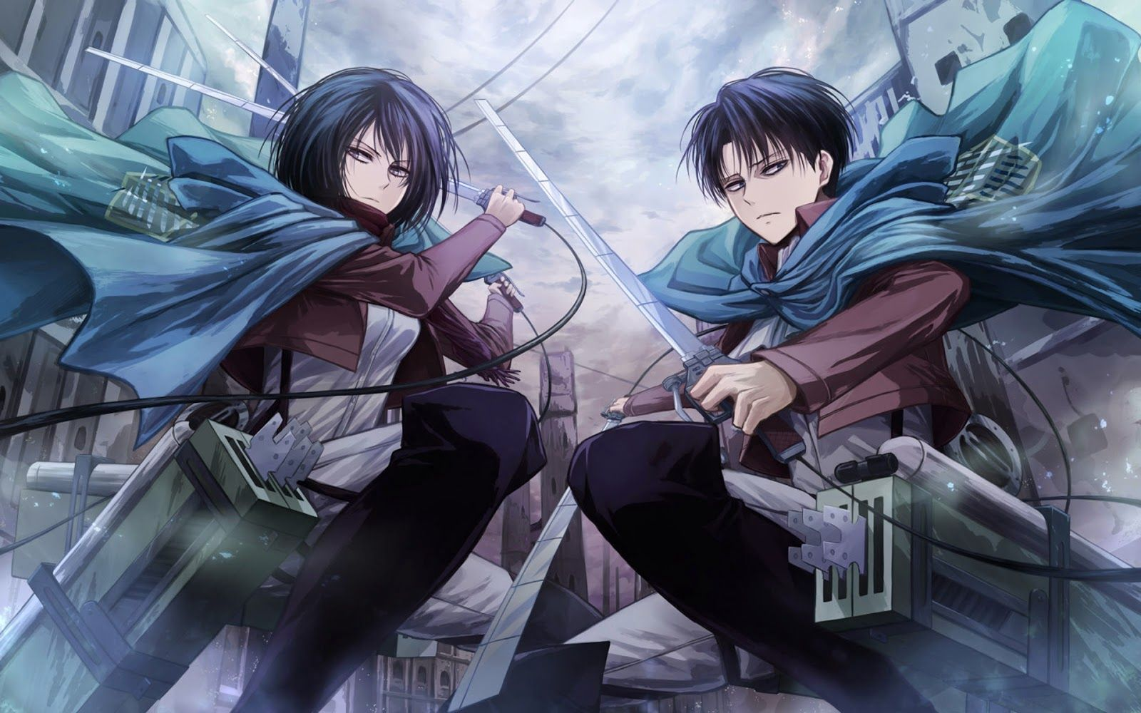 Mikasa Ackerman And Levi Attack On Titan Hd Wallpaper X