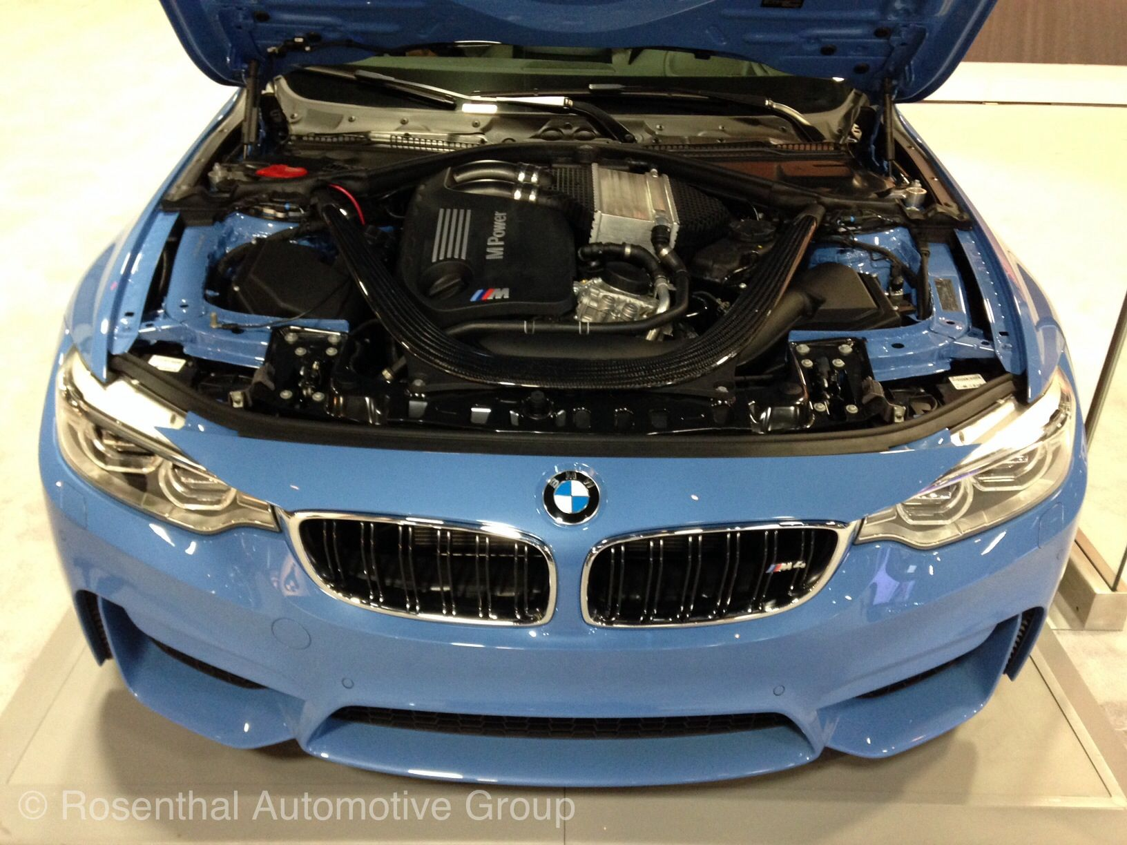 Inside the hood of the m4 f82 at the dc auto show