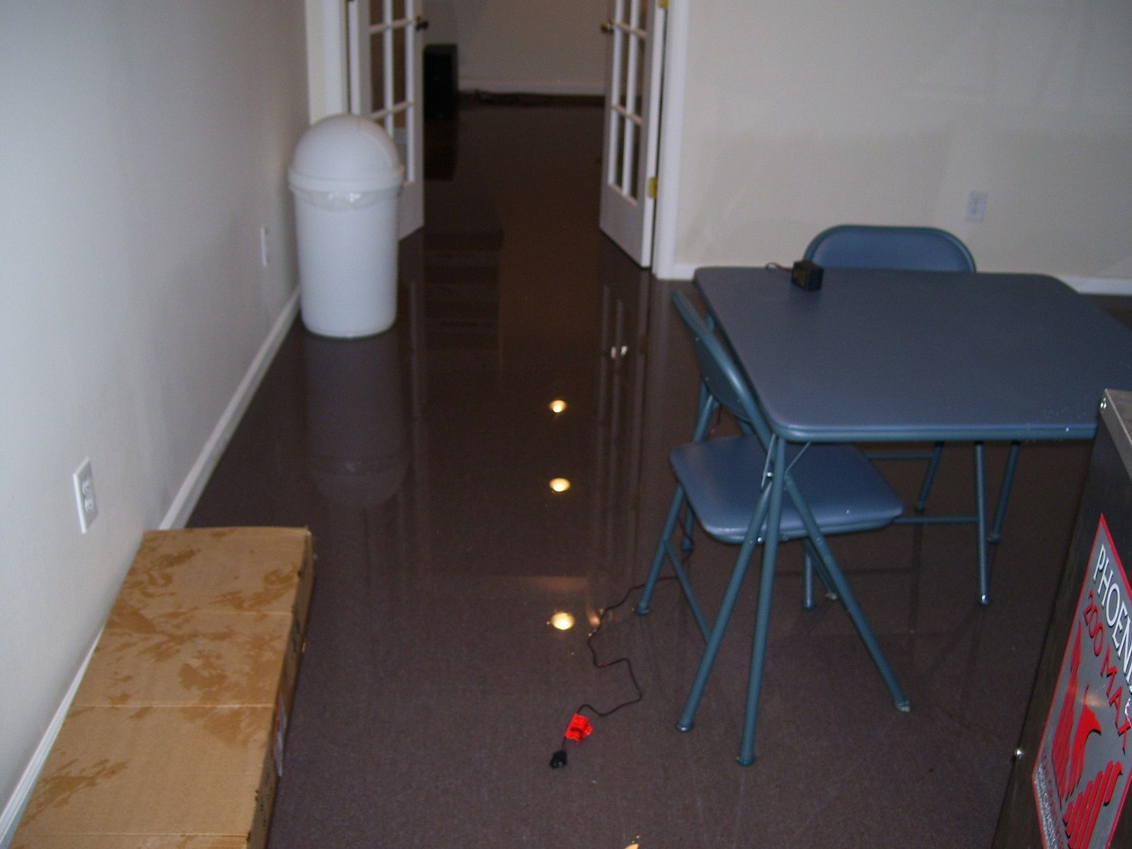 Basement great basement flooding through floor with
