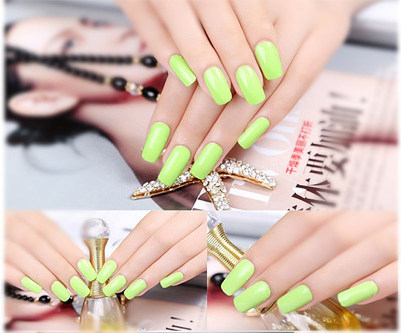 Fashion Nail Wrap Sticker Green Color Gllitter Jamberry Nail Sticker ...