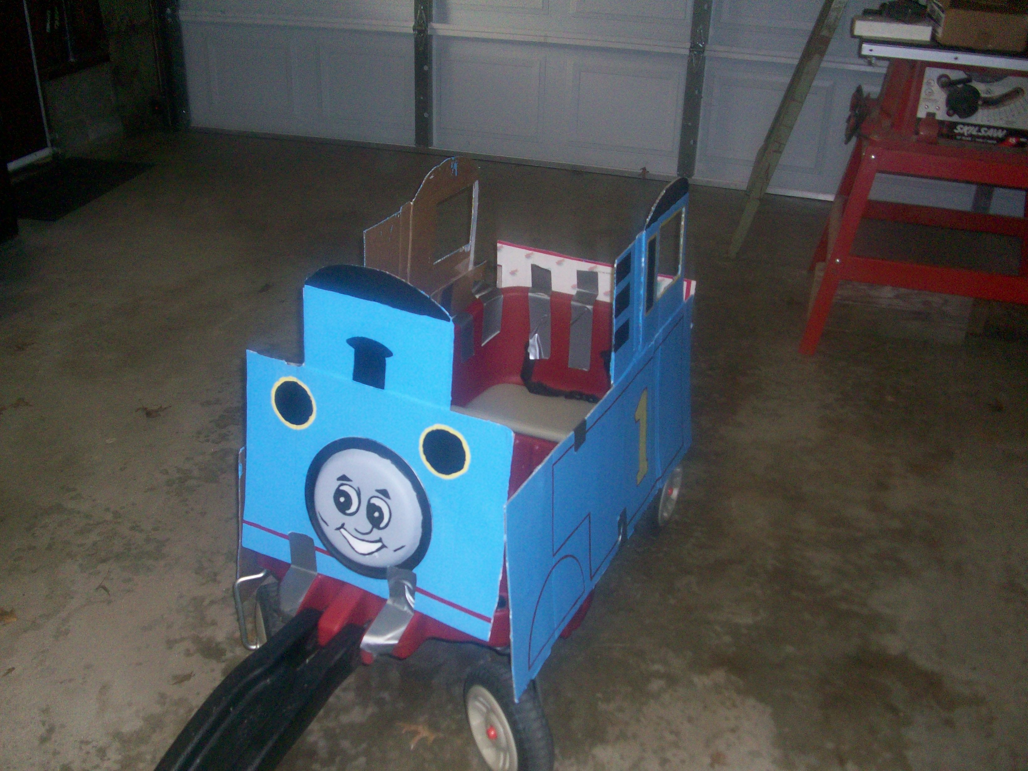 Thomas the Train wagon (leftover cardboard from a couple old boxes and a paper & Thomas the Train wagon (leftover cardboard from a couple old boxes ...