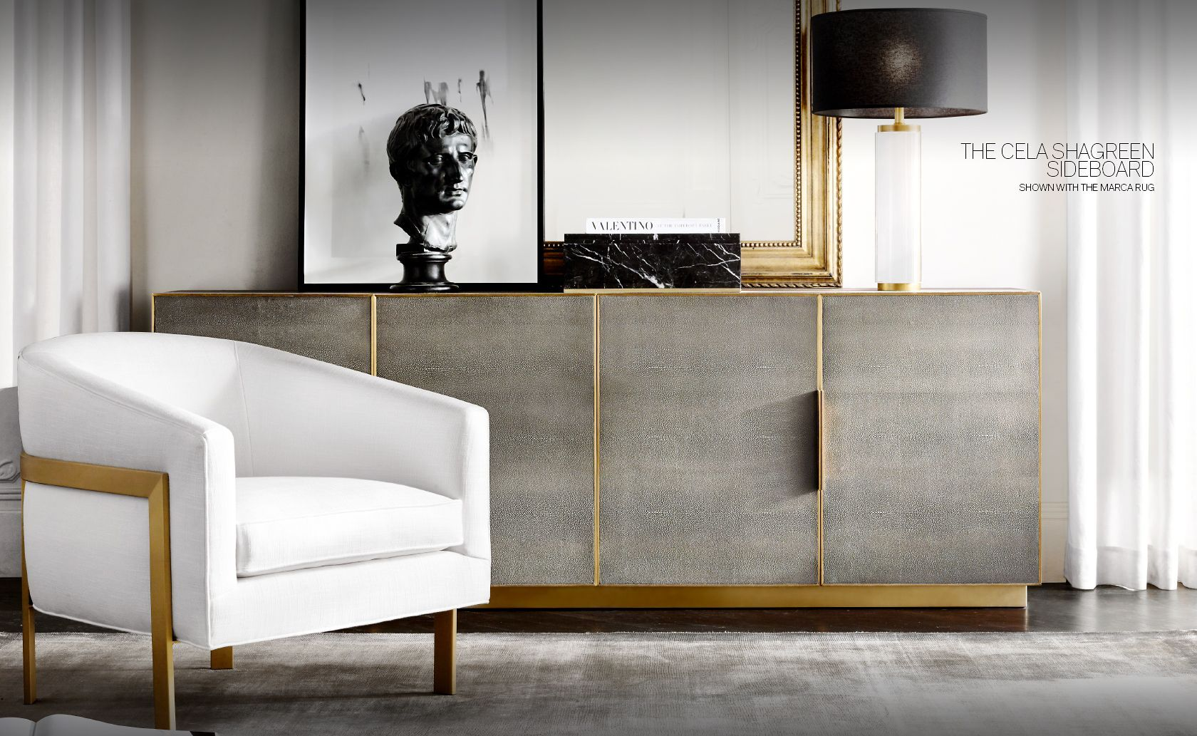 Rh Modern Introducing The Cela Shagreen Sideboard Collection