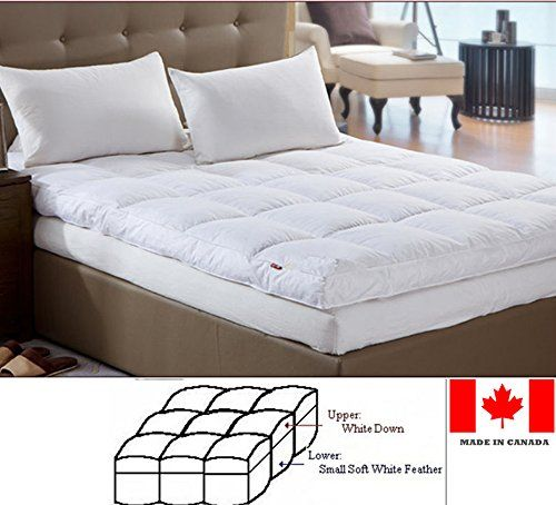Luxury Down Feather Bed Mattress Topper Made In Canada Full Westlife Bedding Http Www Amazon Ca Dp B00hmul8ha R Mattress Mattress Topper Feather Mattress