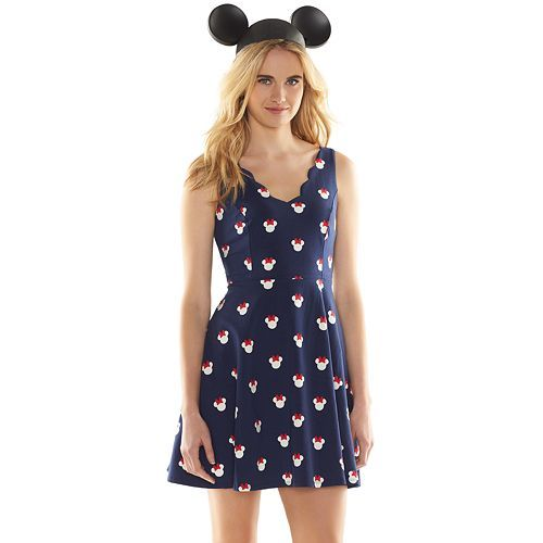 Disney s Minnie Mouse a Collection by LC Lauren Conrad Print Fit   Flare  Dress - Women s 807e00845