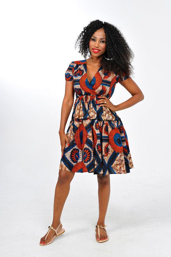 b69797e91f636f African Print Casual Dress by Bongolicious1 on Etsy
