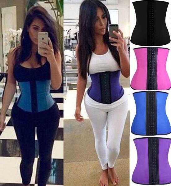 2cddfc7ea82a6 Latex Waist Clincher Steel Boned Waist Trainer Corset Underwear! corset    bustiers