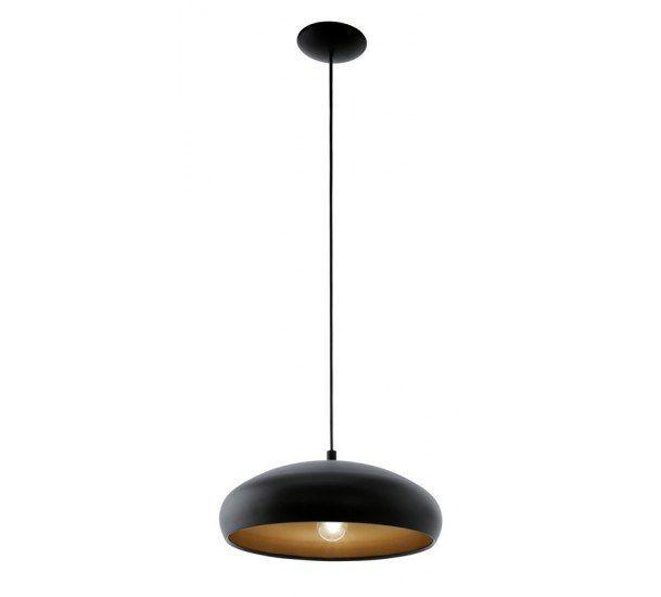 Mogano Pendel - Svart - Svart hengende taklampe med kobber på innside
