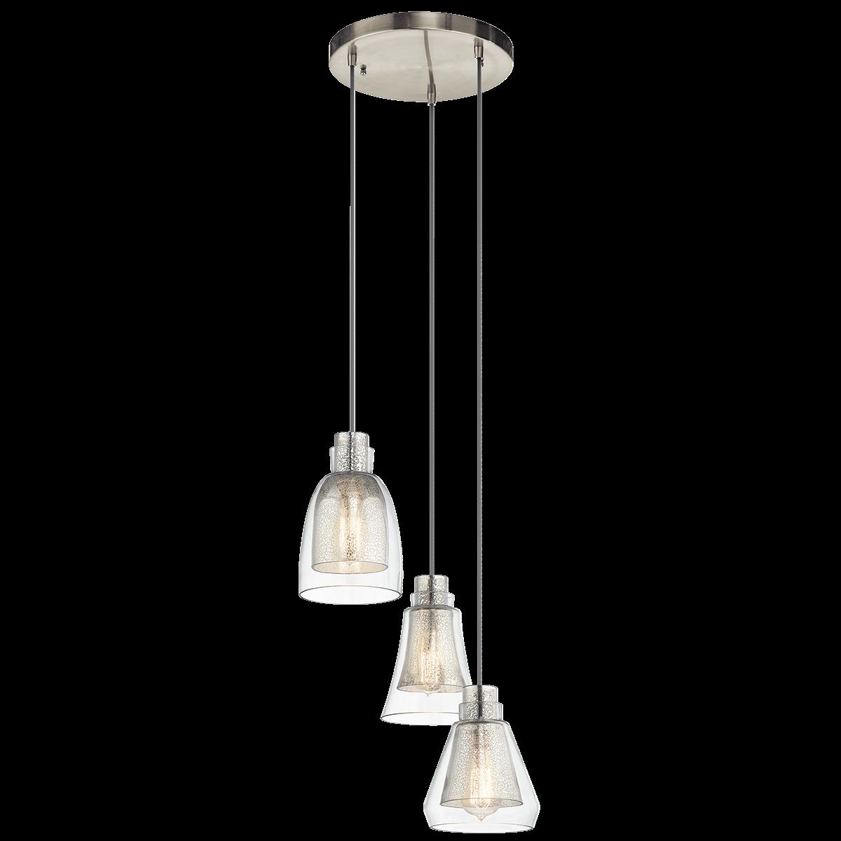 3 Light Pendant 43627ni In Brushed Nickel Evie Pendant Lighting Multi Light Pendant Ceiling Pendant Lights