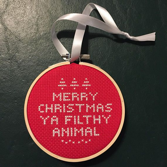 Home Alone Quote Cross Stitch Merry Christmas Ya