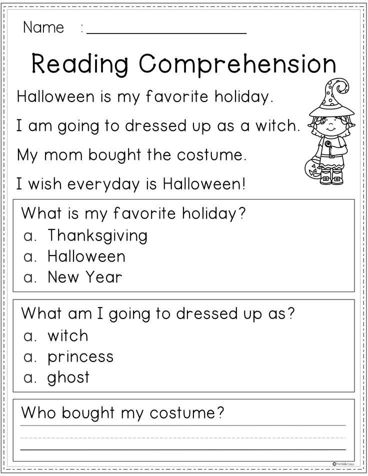 Reading Comprehension Fall Edition Reading