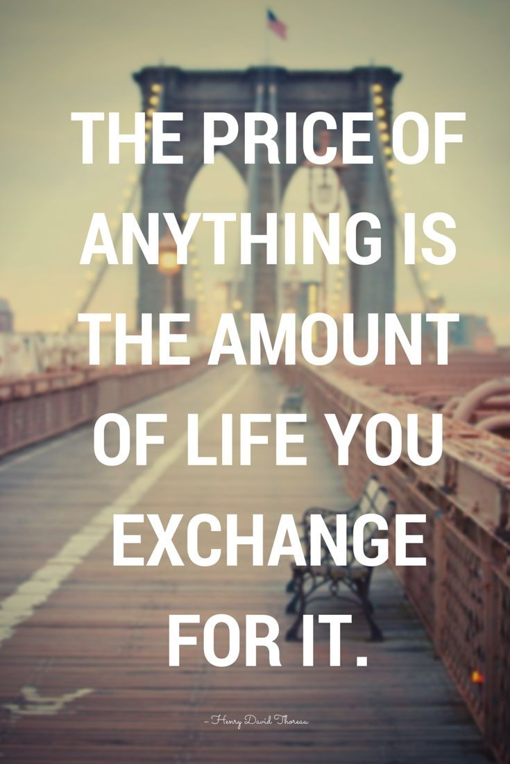 Wise Quote About Life The Price Of Anything Is The Amount Of Life You Inspirational