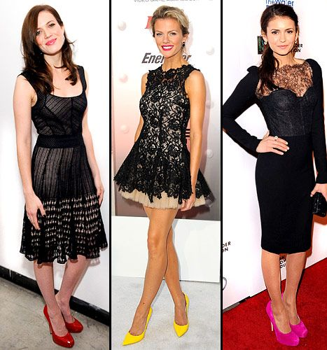 Hot Trend Bright Shoes With Little Black Dresses Little Black Dress Black Dress Dresses