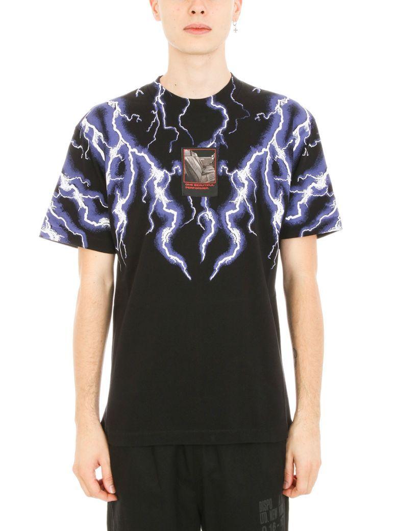 2153e6aa ALEXANDER WANG Alexander Wang Lightning Collage Black Cotton T-shirt. # alexanderwang #cloth #