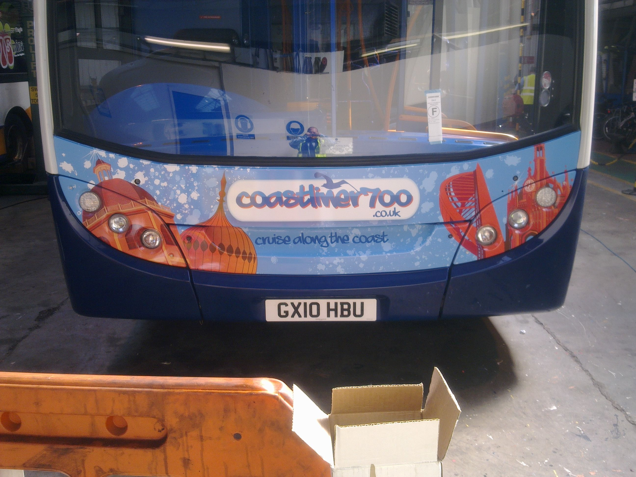 Front Of The Coastliner 700 Bus Livery