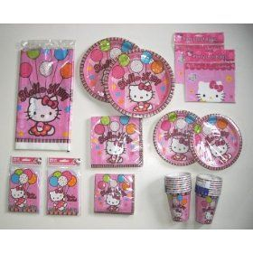 Hello Kitty Party Supplies Pack, Deluxe Birthday Set for 16 Guests $42.99