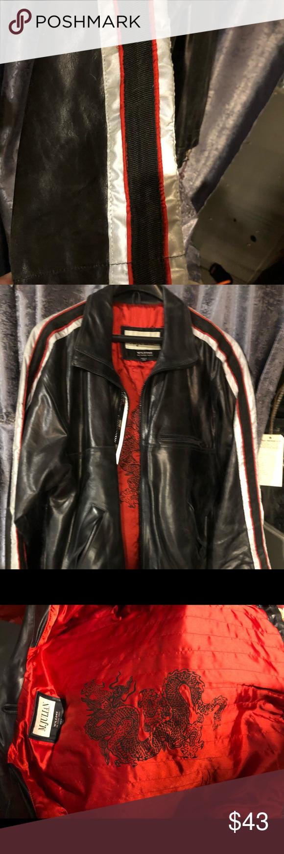 Wilson M Julian Black Leather Jacket Coat Large Black Leather Jacket Leather Jacket Wilsons Leather Jacket