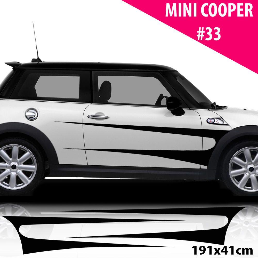Sport car sticker design - Car Side Stripes For Mini Cooper Car Decals Car Stickers Racing Stripes Sport
