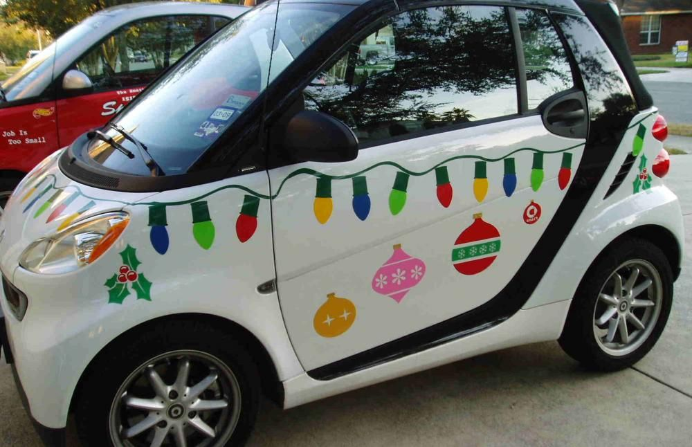 Christmas Car Decorations.Christmas Decoration For Smartcar Smart Car Forums