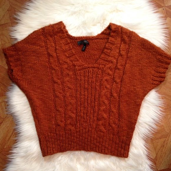 Jessica Simpson sweater top Soft sweater top color is more like a burnt orange really cute on Jessica Simpson Tops