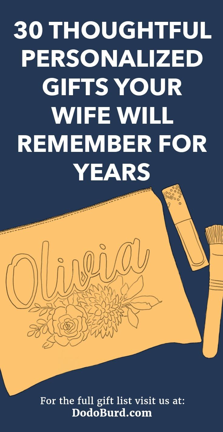 30 Thoughtful Personalized Gifts Your Wife Will Remember ...