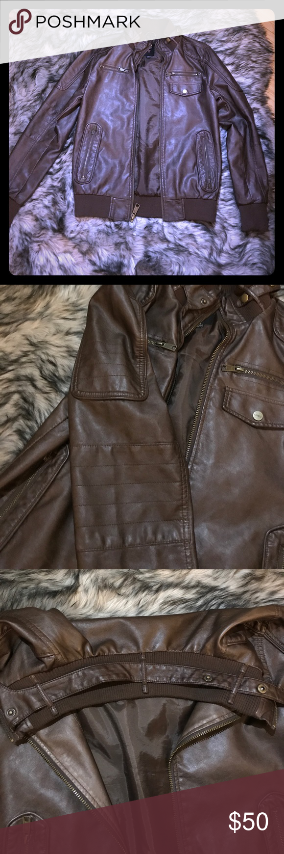 Men S Guess Brown Leather Jacket Brown Leather Jacket Men Leather Jacket Brown Leather Jacket [ 1740 x 580 Pixel ]