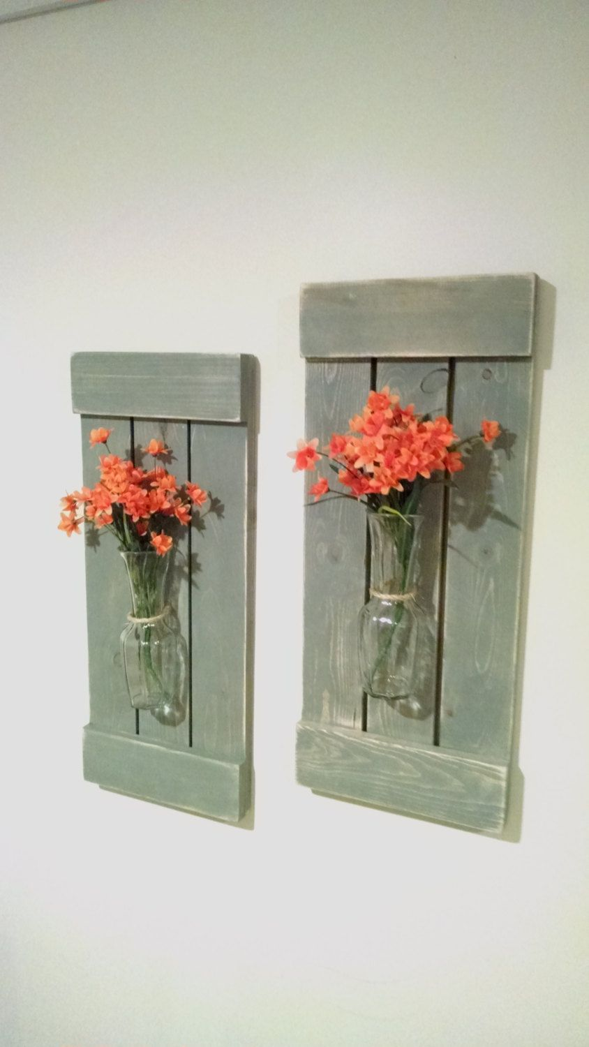 Large rustic sconces shutters with vase rustic shutters rustic