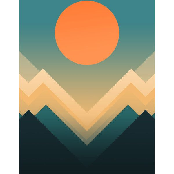 Inca Art Print (26 CAD) ❤ liked on Polyvore featuring home, home ...