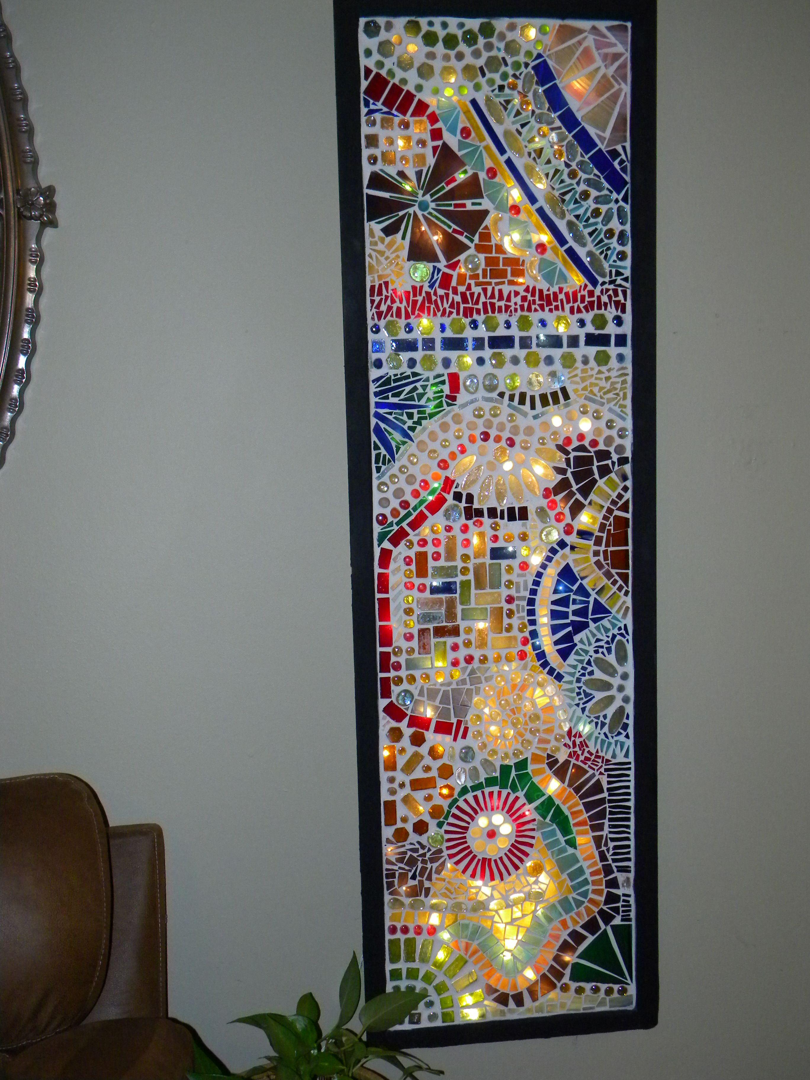 Backlit Mosaic Glass Mosaic Mirror Mosaic Wall Art Mosaic Crafts