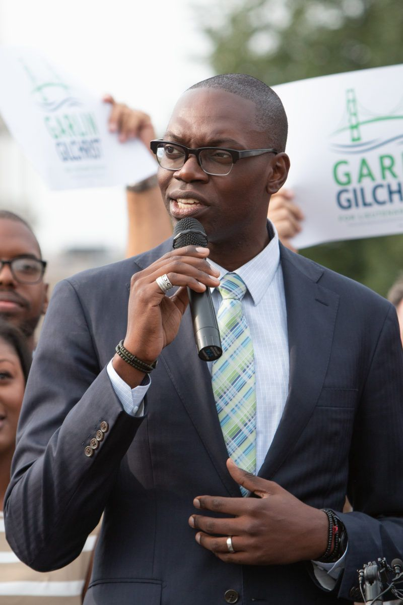 Garlin Gilchrist Michigan Lt Governor Governor One Year Old Wife