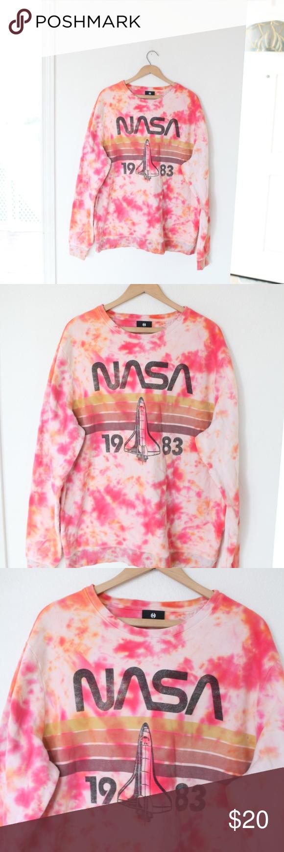 Hyper Space Nasa Tie Dye Sweatshirt Mens Xl Tie Dye Sweatshirt Mens Sweatshirts Sweatshirts [ 1740 x 580 Pixel ]