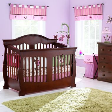savanna grayson 3 pc baby furniture set cherry jcpenney dresser changing table and crib. Black Bedroom Furniture Sets. Home Design Ideas