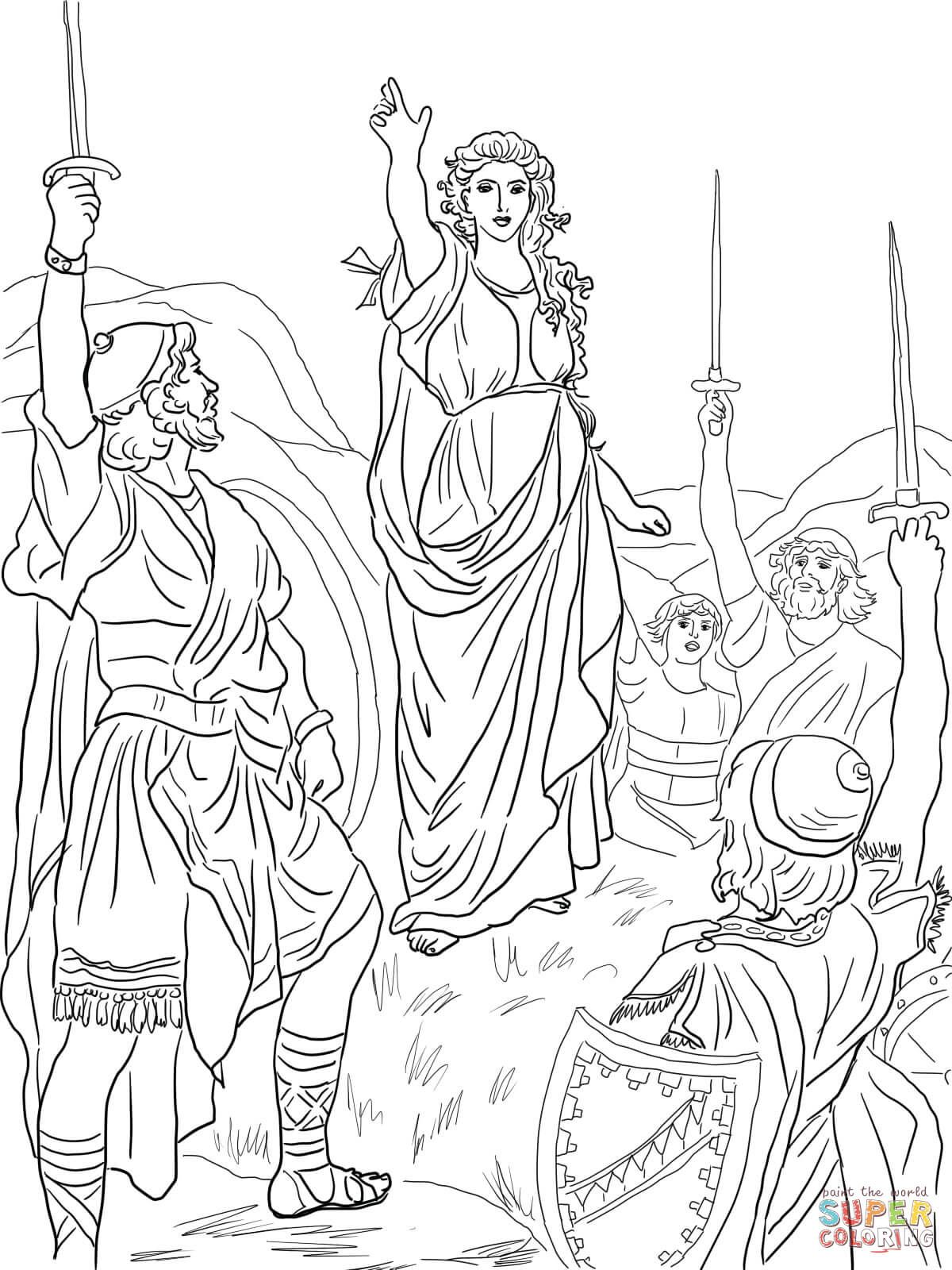 Resultado De Imagem Para Desenhos De Debora Da Biblia Desenhos